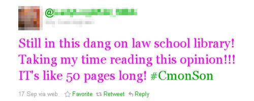 Lazy, distracted, Twitterhead law student