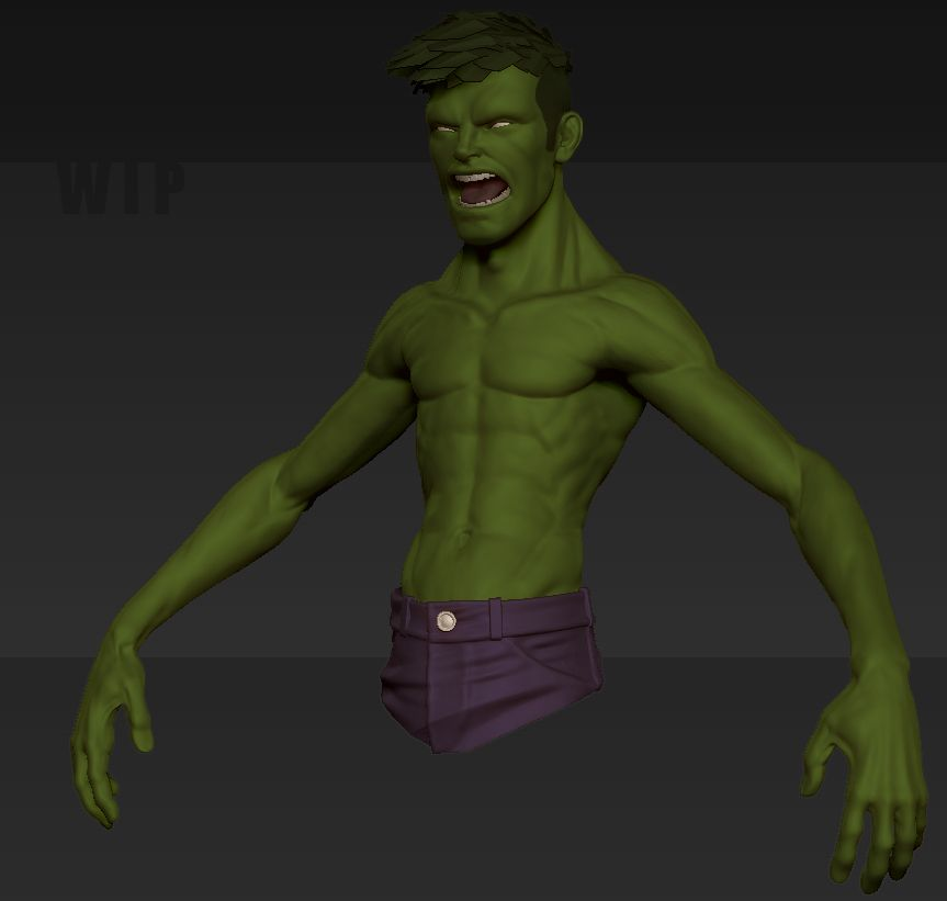 THE INCREDIBLE HULK... I guess. — polycount