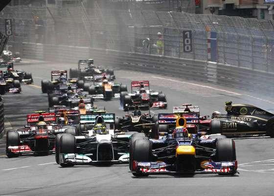 F1 2012 Monaco GP Race Start