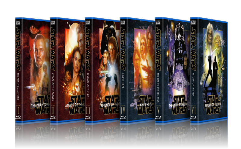 Blu Ray And Other Hd Box Size Star Wars Covers Original Trilogy