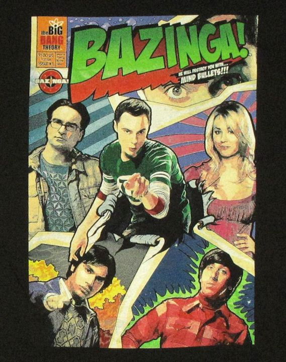 T Shirt The Big Bang Theory Bazinga Comic Cover Fumetto